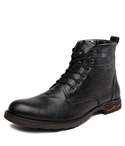 57369eb9a88 Bacca Bucci Men Black Genuine Leather Boots