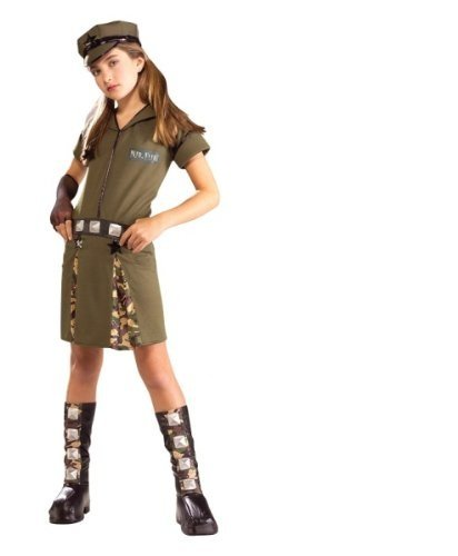Girls Major Cutie Army Costume - 2/4