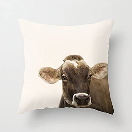 Wendana Cow Pillow Covers 18 X 18 Decorative Farmhouse Decor Pillows Throw Pillow Covers For Couch Home Kitchen