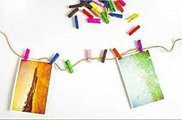 Paquete De 2 Mini Pinzas Colgante Fácil de Colgar Ropa Manualidades Fotos Pequeño Clips Boda Arte