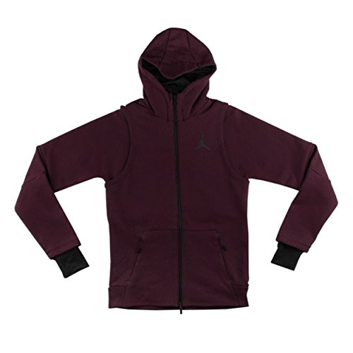 Nike Jordan Shield Tech Fleece Hooded Sweatshirt Burgundy 809486 642 (m) by NIKE