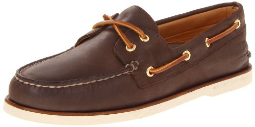 Sperry Men's Gold Cup Authentic Original 2-Eye Boat Shoe, Brown, 7 M US (Eye Men Gold Sperry Topsider)