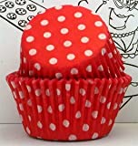 Golda's Kitchen Baking Cups - Polka Dot - Red
