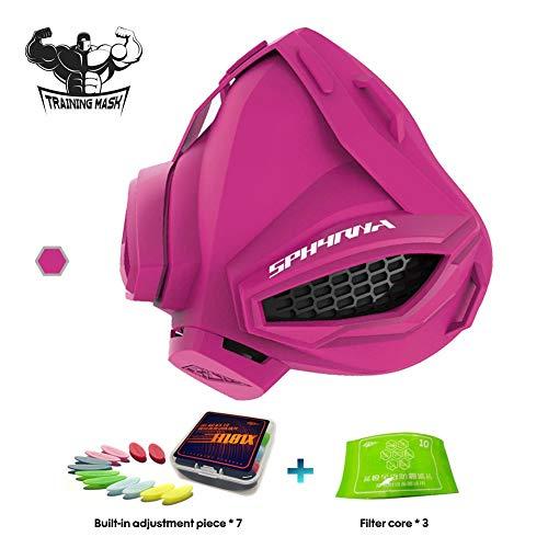 Nwhzl Training Mask 3.0-6 Breathing Levels - Elevation Workout Mask, Cardio and Endurance Mask, Fitness Mask, Breathing Resistance Mask, Running MaskPink
