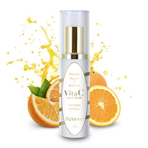 RENOVE Vita C Serum Anti-Aging Skin Care Naturally Repairs & Brightens 1oz (30ml)