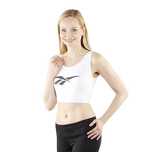 "Reebok DC Fitness Crop Top Women ""White"" BK4128"