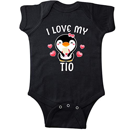 (inktastic - I Love My TIO with Cute Penguin Infant Creeper 12 Months Black 3431c)