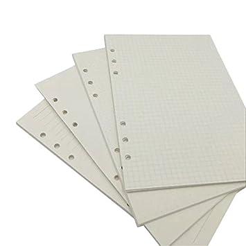 Archivador de hojas sueltas A5 A6 con 80 páginas de inserción (cuadrado cuadrado/cuadrado