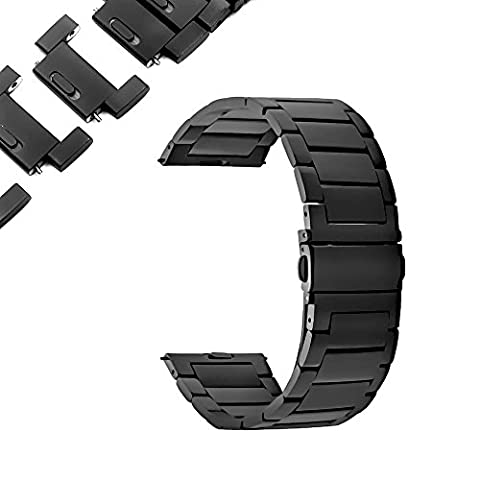 22mm Watch Band,Quick Adjust and Release Stainless Steel Metal Replacement Strap for Men (Metal Watch Bands Replacement)