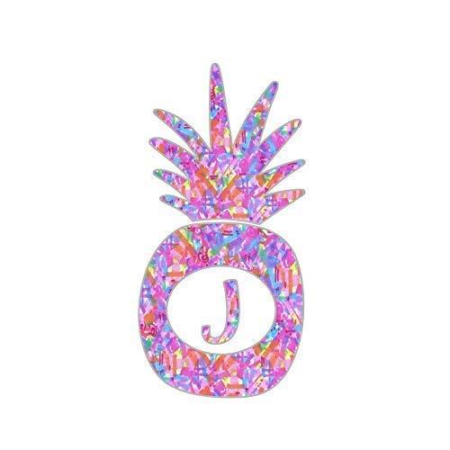 Amazon Com Letter J Pineapple Decal Monogram Initial