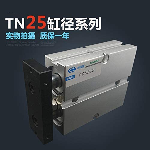 JIAIIO TN2560 25mm Bore 60mm Stroke Compact Air Cylinders TN25X60-S Dual Action Air Pneumatic Cylinder