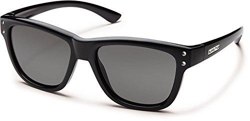 Suncloud Carob Polarized Polycarbonate Sunglasses (Black)