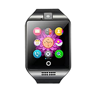 Bluetooth Smart Watch Phone Pandaoo Smart Watch Mobile Phone Unlocked Universal GSM Bluetooth 4.0 NFC Music Player Camera Calendar Stopwatch Sync for Android iPhone Google Huawei Smartphones (Gary)