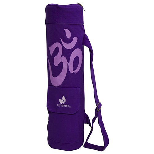 Fit Spirit® OM Exercise Yoga Mat Bag w/ 2 Cargo Pockets - Purple