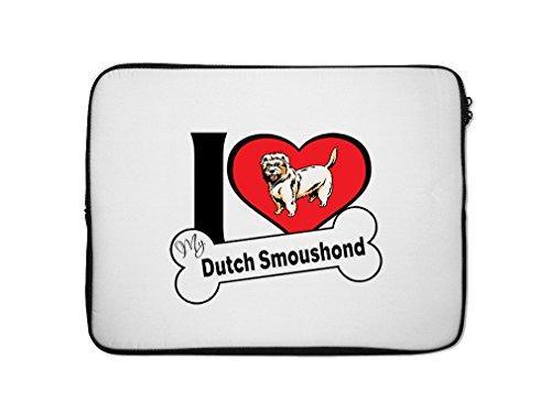 """Price comparison product image DUTCH SMOUSHOND DOG I love my bone Laptop Ipad Sleeve Case Bag 7"""""""