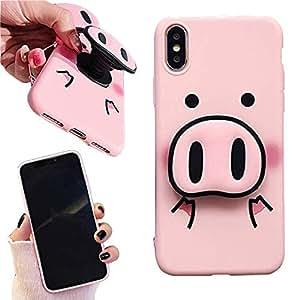 Amazon.com: iPhone XR Case - Cute Pig Nose Pop Socket Cell