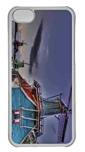LJF phone case Customized iphone 4/4s PC Transparent Case - Windmills Hdr Personalized Cover