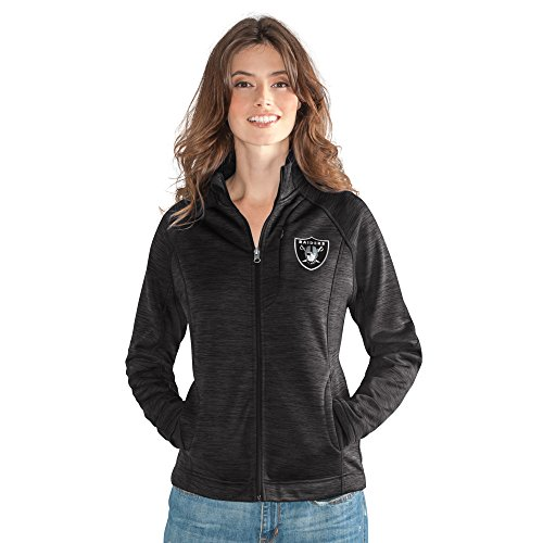 NFL Oakland Raiders Women's Hand Off Full Zip Jacket, Medium, (Oakland Raiders Womens Jackets)