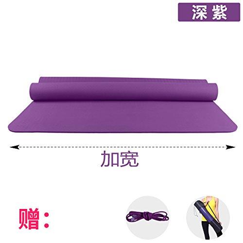 YOOMAT Verbreiterung 120 cm Doppellagige Yogamatte TPE 6 8 10 mm Anti-Rutsch Kinder Hop Dance Matte Gymnastikmatte Matten, 10 (Starter), 185 x 80 cm Deep lila (gebunden mit dem Paket) 102438