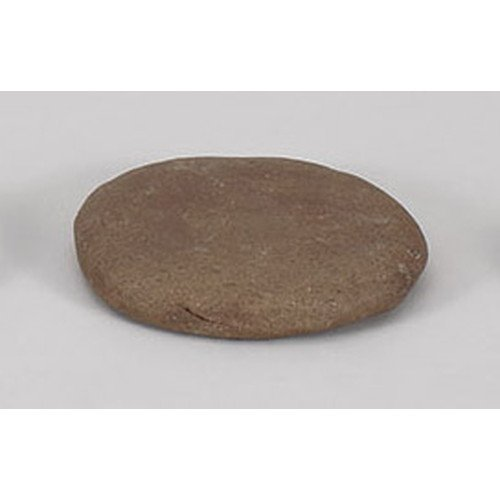 [mkd-896-21-26e] Ceramic plate gourmet grinding stone handmade (Maru Univ.) [14 x 3 cm] earthware direct fire tatori ryokan Japanese food machine restaurant business use by SETOMONOHONPO