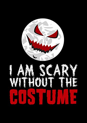 Home Of Merch I AM Scary Without The Costume Sarcastic Pun Halloween Poster Great Gift Idea for Halloween, Christmas, Birthday t Friends and Family or Just Like That Funny Black 16x24 Poster