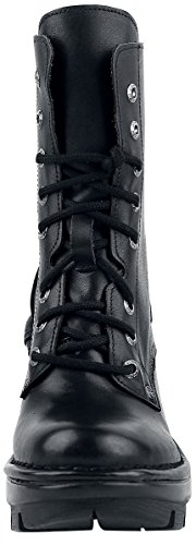 Rock Leather Womens Boots Black NEOTYRE07X M New S1 XUqd5Sqw