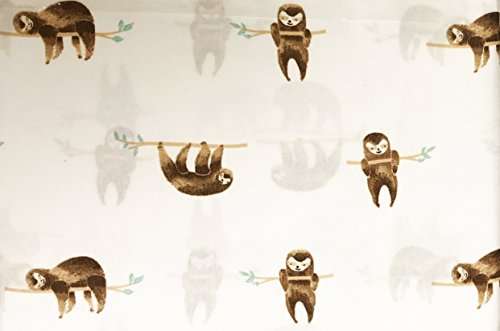 Cynthia Rowley Cute Smiling Sloths Hanging on Branches Novelty Sheet Set (Queen)