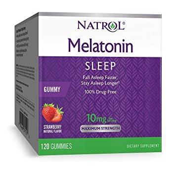 Natrol Melatonin Gummy, 10mg, 120 Count