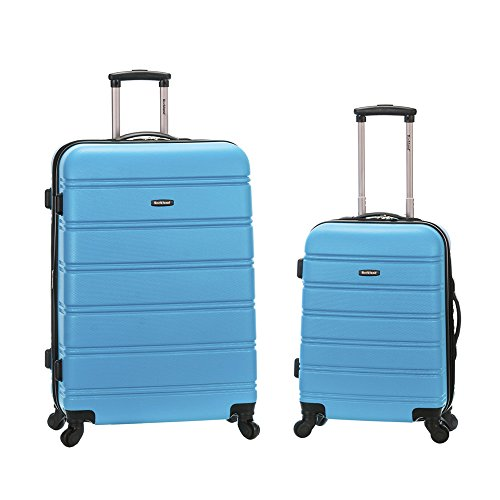Rockland 20 Inch 28 Inch 2PC Expandable ABS Spinner Set, Turquoise by Rockland
