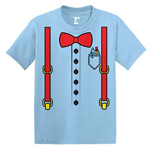 Nerd Costume - Nerdy Smart Student Infant/Toddler Cotton Jersey T-Shirt (Light Blue, 18 Months)]()