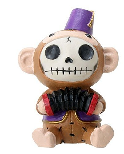 SUMMIT COLLECTION Furrybones Fez Munky Signature Skeleton in Monkey Costume Wearing Fez Hat and Vest with ()