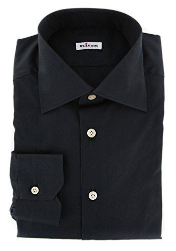 new-kiton-black-solid-slim-shirt
