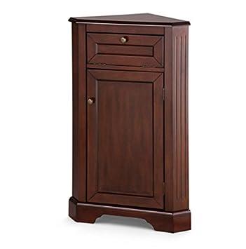 Charming Weatherby Bathroom Corner Storage Cabinet (Walnut)