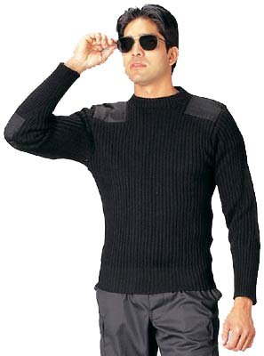 Rothco Wool Commando Sweater, Black, 54'' by Rothco