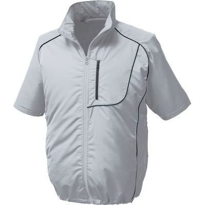 空調服 ポリエステル製半袖空調服(ウェアファン2個ケーブルバッテリーセット) シルバー BP-500S-SV-4L B06XZW62ZT