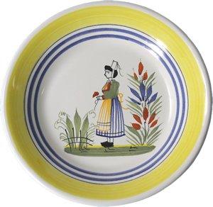 Quimper Henriot Miniature Plate Woman