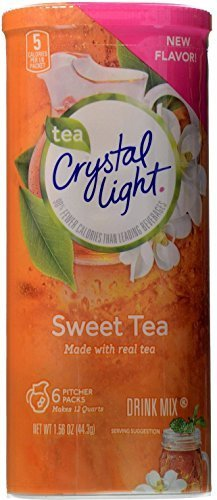Crystal Light Sweet Tea, 12-Quart 1.56-Ounce Canister (Pack Of 4)