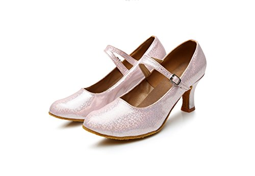 Soft Modern Shangyi Adult Pink Winter Height Women's With Friendship 5cm And Square Latin Shoes Bottom Autumn High Heel Dance qS1gR