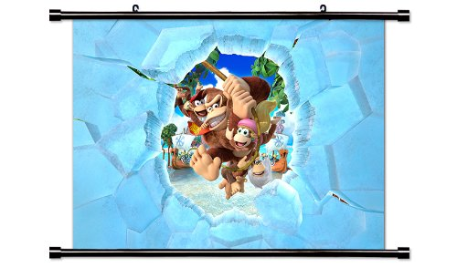 Price comparison product image Donkey Kong Country Tropical Freeze Game Fabric Wall Scroll Poster (32x22) Inches