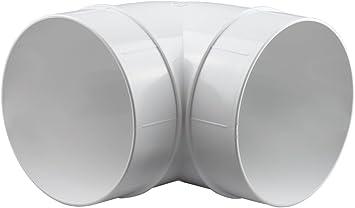 Bogen Kunststoff Bogen PVC 90° 100mm Winkel Lüftungsrohr 100 mm Rohrbogen