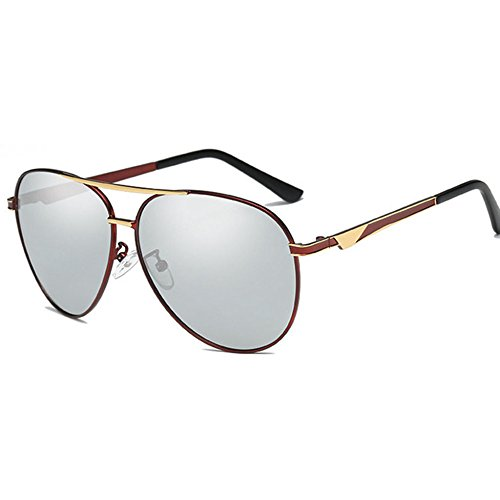 Aoligei sol UV noche polarizado Shing Fotosensible de de gafas doble y B hombres día uso color rCBrqwO