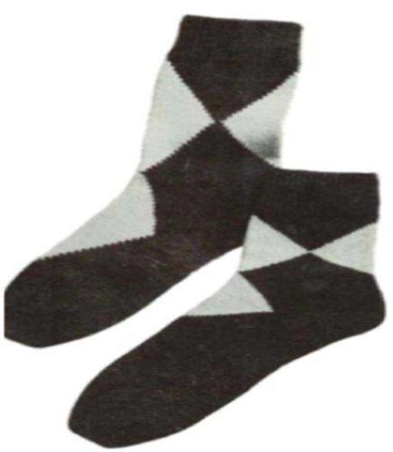 #1695 ARGYLE-TYPE ANKLETS VINTAGE KNITTING PATTERN (Argyle Anklet)
