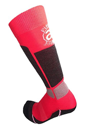 Alyberry 2 Pairs of Kids Junior (Boys/Girls) Compression Wool Socks Perfect for Keeping Warm During Skiing and Snow Boarding