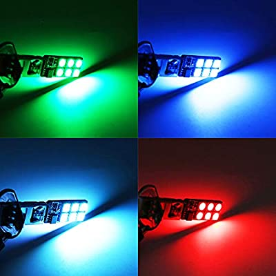 H1 LED RGB Fog Lights Bulb Amber Yellow White Multicolor 16 Color Changing Switch Kit Strobe Lamp Bulbs for Car Trucks Remote Control Switch Error Free Plug and Play 12V 5050SMD Replacement【1797】: Automotive