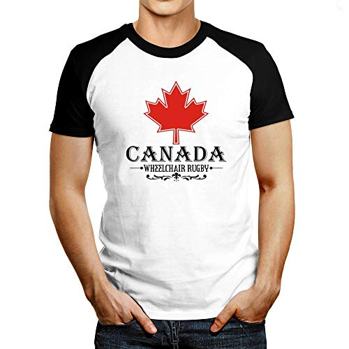 Idakoos Maple Canada Wheelchair Rugby Raglan T-Shirt L White (Canada Shirt Rugby)