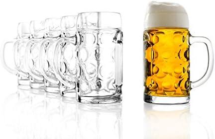 Stlzle bovenglas ISAR maatkan 05 loriginele biermok Oktoberfest bierglas traditie oogkrug 6 stuks vaatwasmachinebestendig hoogwaardige kwaliteit