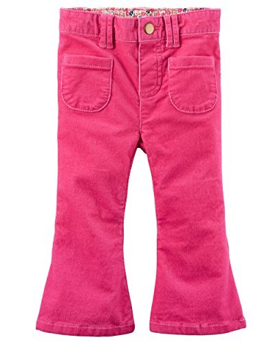 Carter's Baby Girl's 2-Pocket Stretch Flare Corduroys, 9 Months, Pink (Cotton Corduroys Flare)