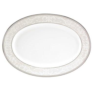 Nikko Pearl Symphony Oval Platter, 14 1/4