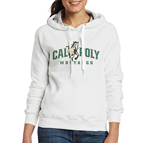 Price comparison product image Bro-Custom Cal Poly Hoodies For Women Size L White