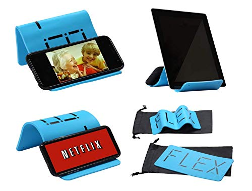 iFLEX | Cell Phone & Tablet Stand Holder for in-Flight Air Travel | Holds iPhone Android Cellphone iPad Kindle Tablet | Universal Silicone Stand/Holder Home Travel Work Gym Car Skype YouTube Netflix